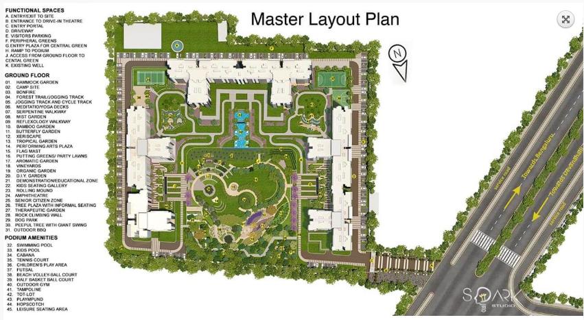 Godrej Royale Woods Master Plan