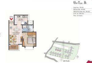 Prestige Primrose Hills Bengaluru type-b-floorplan